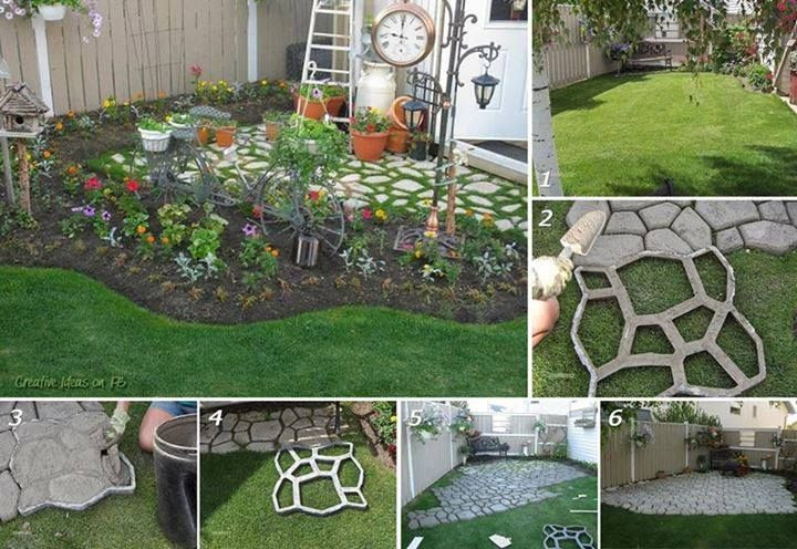 DIY Concrete Patio Molds