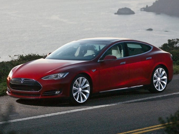 The Model S has active air suspension and using the touchscreen in the dash, the drive can raise and lower the ride height for road and weather conditions.