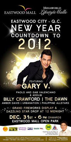 Eastwood City New Year countdown to 2012