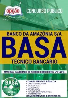 Concurso BASA 2018-TÉCNICO BANCÁRIO