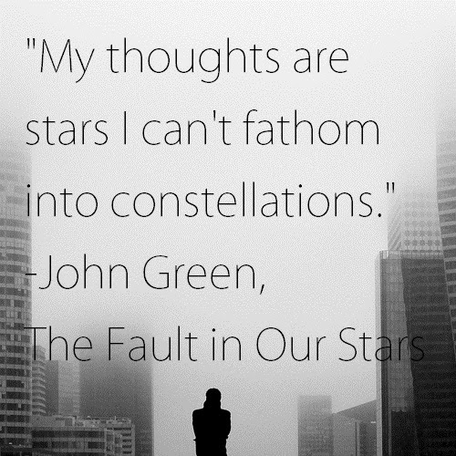 My Thoughts Are Stars I Cant Fathom Into Constellations John