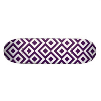 Purple and White Meander Skateboards