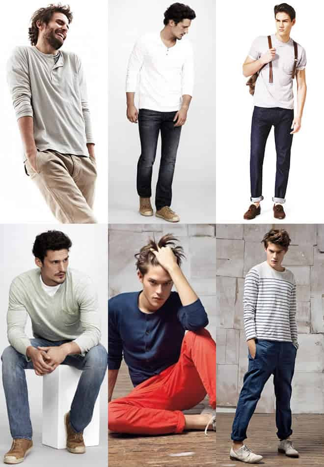 The good old jeans/chinos and top combination examples