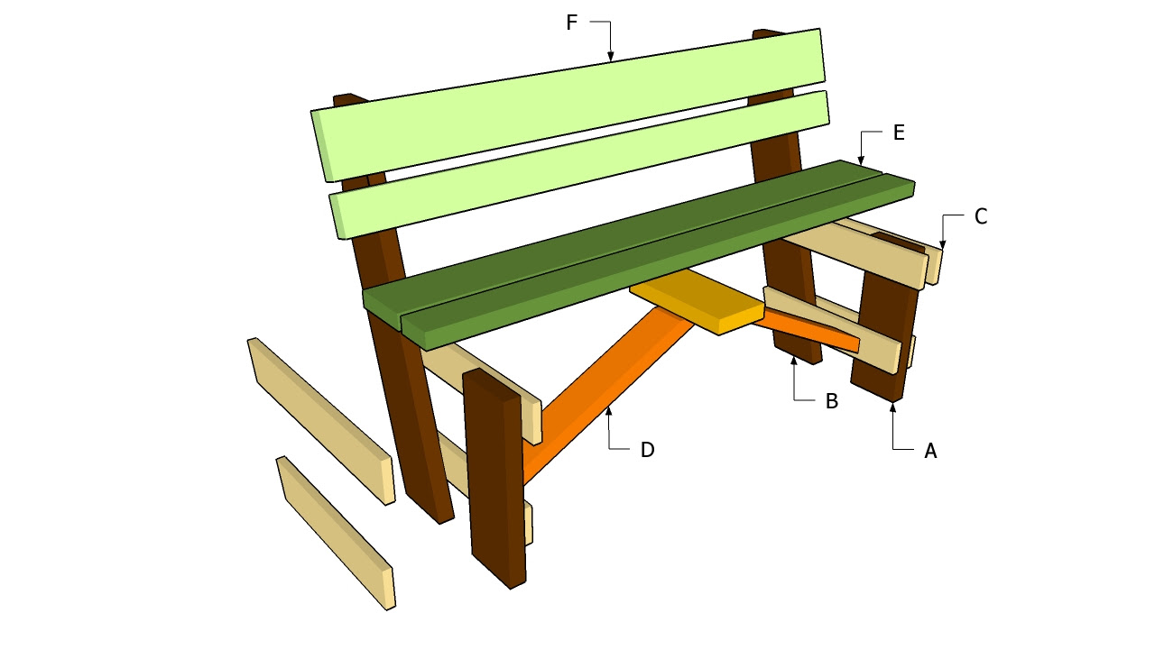 here plans to build a wooden park bench | woodworking plans and project