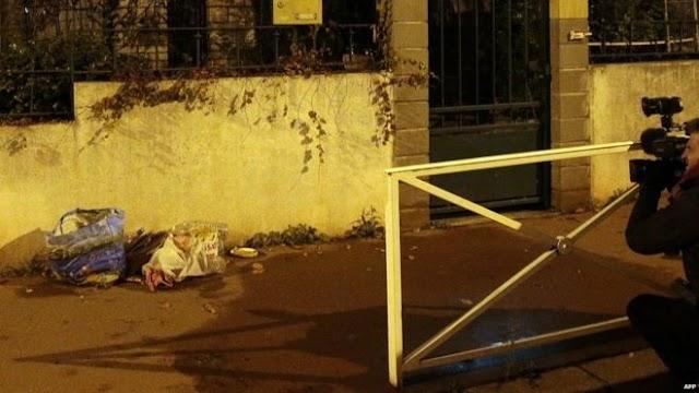 #ParisBloodBath : 'Suicide belt' dumped on Paris street