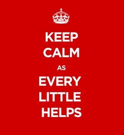 #itsmesimon keep calm as every little helps