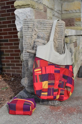 Patchwork Bag and pouch