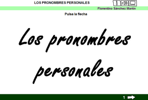 Image result for PRONOMBRES PERSONALES florentino