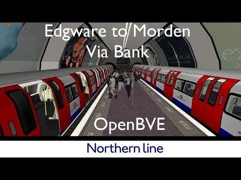 CLondoner92: Northern Line for OpenBVE Edgware to Morden via Bank