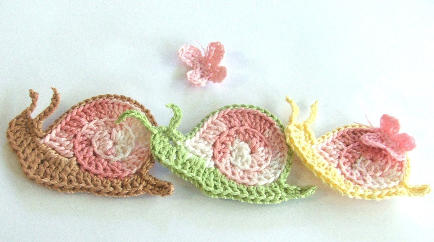 Crochet PATTERN - Sid the Snail - 70s Style Cutie with Butterfly