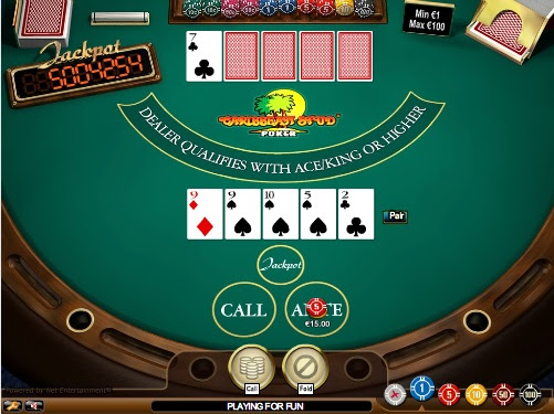STUD POKER free game online. The Free Casino Table Games online are by