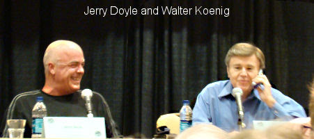 Jerry Doyle and Walter Koenig