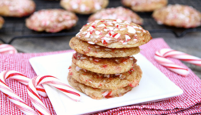 Candy Cane Snickerdoodles