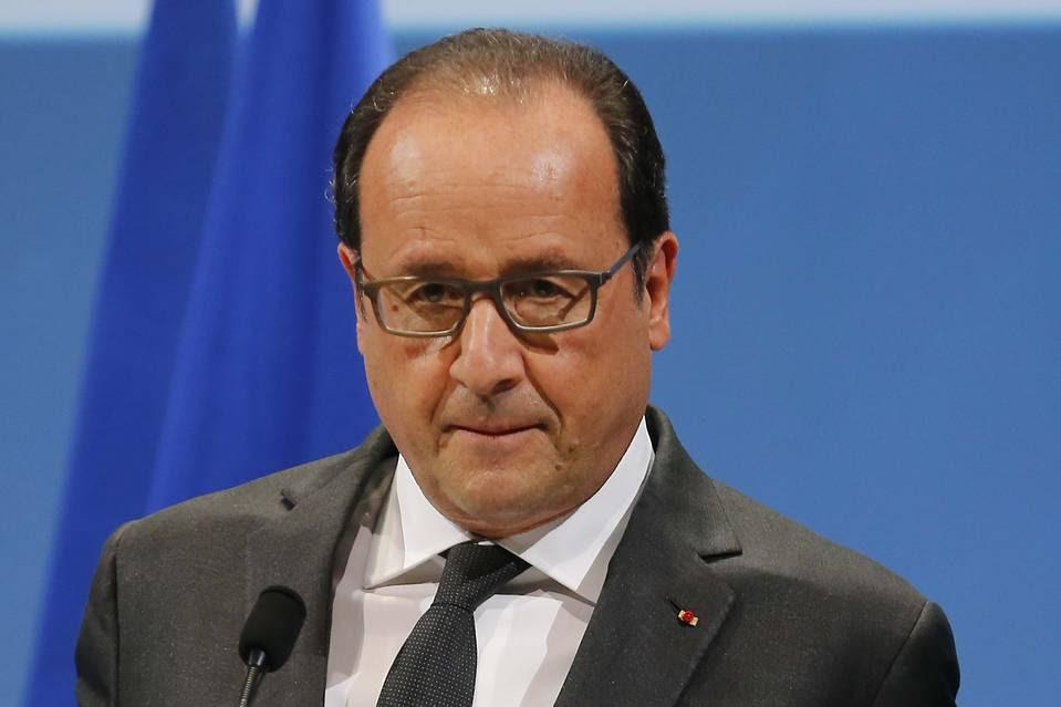 French President François Hollande in Paris, Nov. 19.