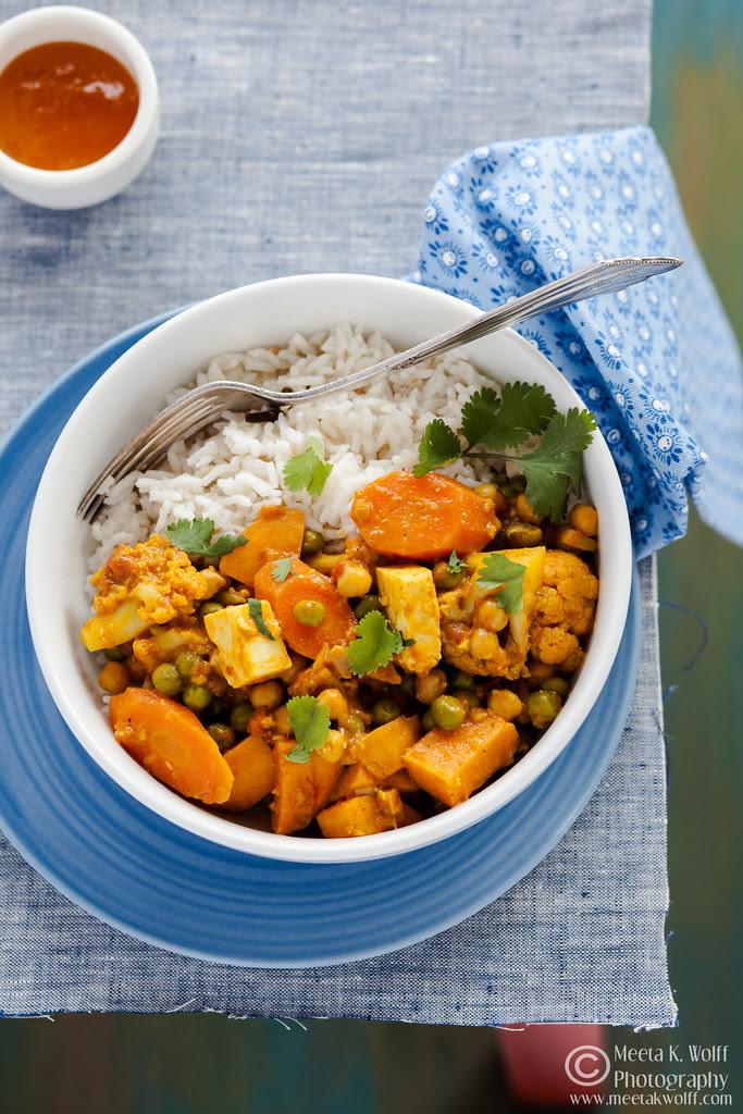 Sambar Spice Vegetable Curry by Meeta K. Wolff