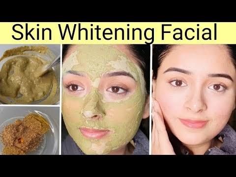 Instant Skin Whitening Facial Home Remedies  Very Easy 100% Glowing Skin Aloevera Gel Orange peel powder Cucumber toner Pure Honey