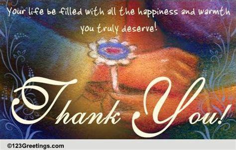 Say Thank You On Raksha Bandhan. Free Thank You eCards