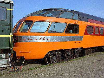 The Hiawatha Cedar Rapids train car at the Saint Paul Amtrak station