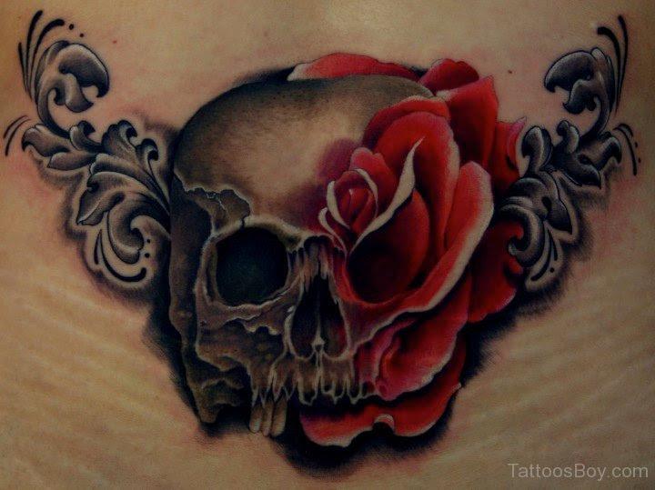 Rose Skull Tattoo Design Tattoo Designs Tattoo Pictures