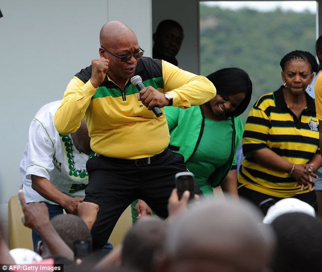 Revelation: South Africa's president Jacob Zuma has told how he used to practise witchcraft against white people