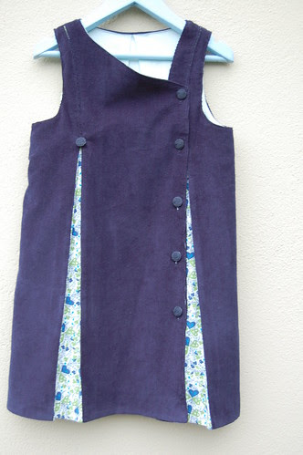 Navy Fiona Pinafore