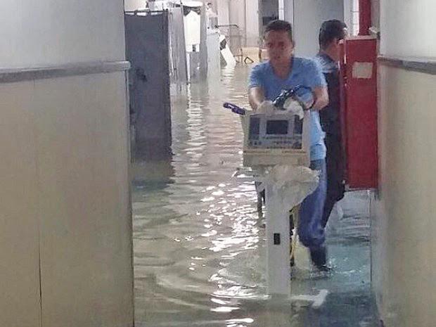 chuva Bahia Salvador hospital alagado (Foto: Divulgação)