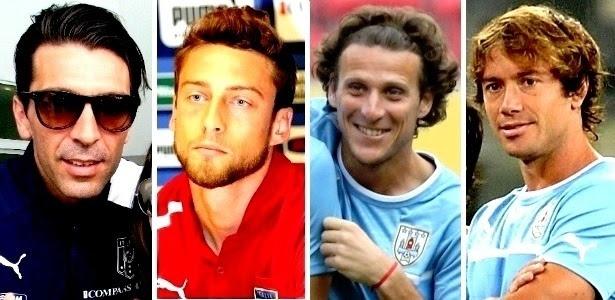 Buffon (e), Marchisio, Forlán e Lugano serão alguns dos 'galãs' em campo na disputa de 3º e 4º lugares