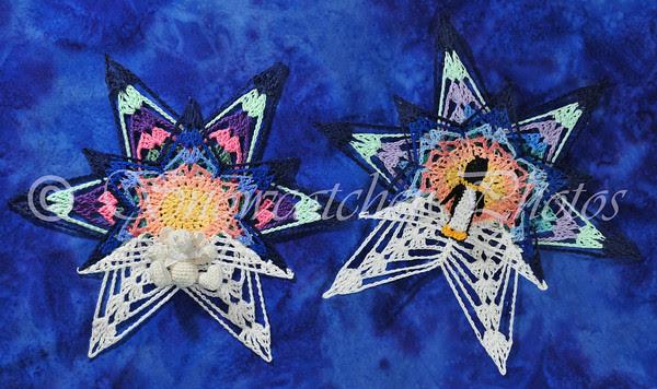 Northern Lights Snowflakes