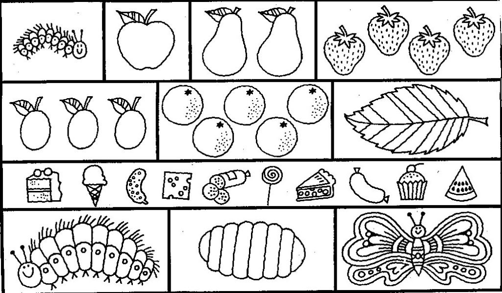 20+ Free Printable The Very Hungry Caterpillar Coloring Pages  EverFreeColoring.com