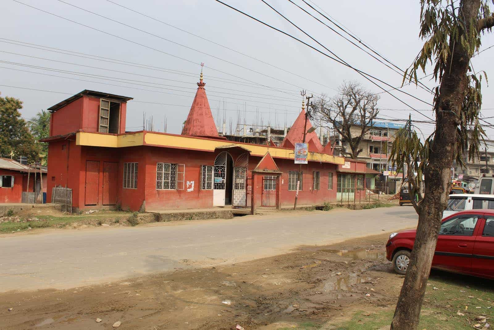 The first incident of beef being found was reported from this Kali temple in Rangpur, Silchar town back in 2013. The incident led to protests, arson and looting that police managed to contain eventually. HTPhoto/Appu Esthose Suresh