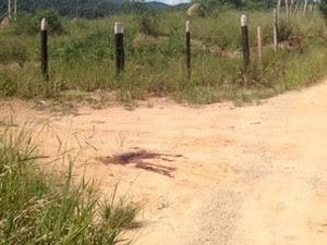 Homicídio na zona leste de São José dos Campos (Foto: Agda Queiroz/TV Vanguarda)