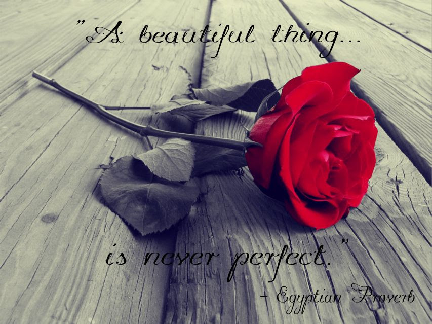 A Beautiful Thing Is Never Perfect Egyptian Proverb Live By Quotes