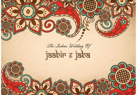 Free vector Free Vector Colorful Indian Wedding Card