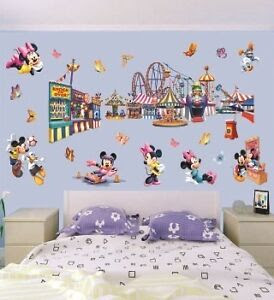 Giant Disney Mickey Mouse Baby Wall Decor Nursery Decal Stickers Removable Kids  eBay