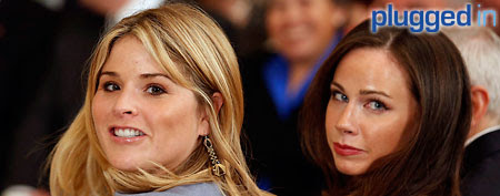Jenna Bush Hager and Barbara Bush in Austin (Yahoo! Studios)