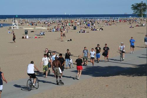 North Avenue beach and bike path