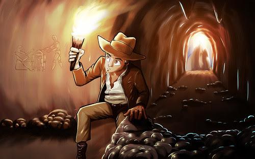 Indiana Jones and the Hieroglyph of Bodacity by ORAZ Studio