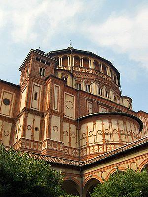 Apse of Bramante's Santa Maria delle Grazie, M...