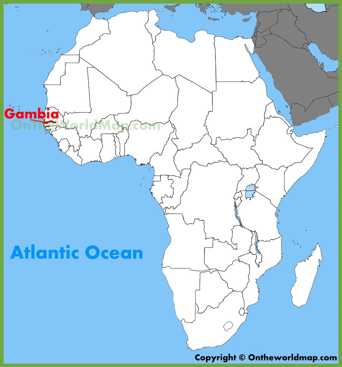 Gambia West Africa Map.Gambia Map Of Africa Map Of Us Western States