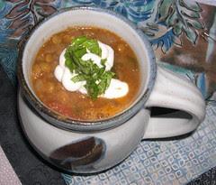 Spicy Lentil Tomato Soup
