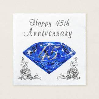 45th Wedding Anniversary Napkins   Zazzle Canada