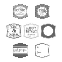 Label Love Clear Stamp Set