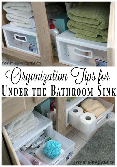 organization tips    bathroom sink