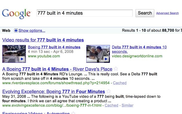 777 built in 4 minutes