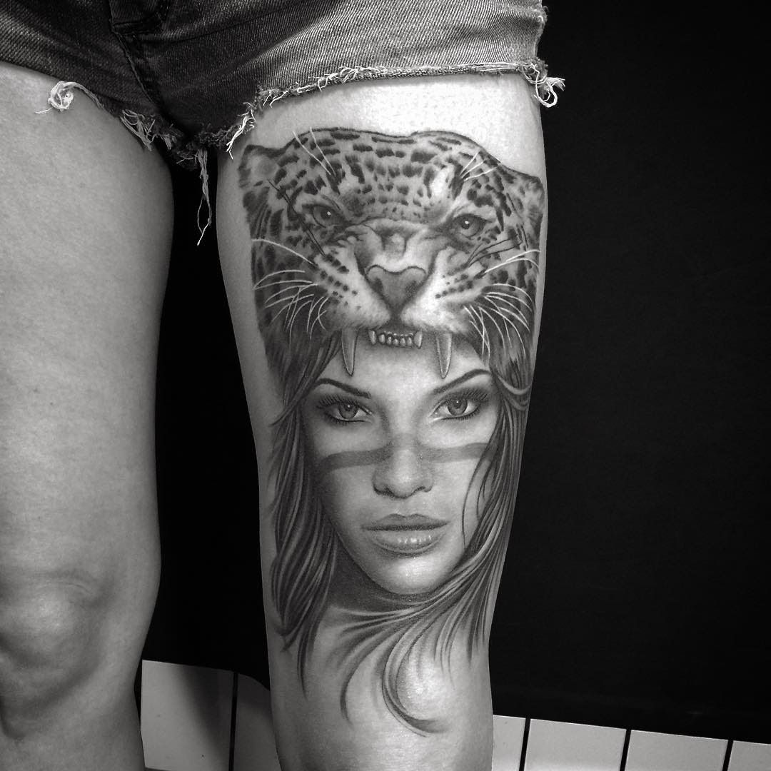 Jaguar Girl Tattoo Best Tattoo Ideas Gallery