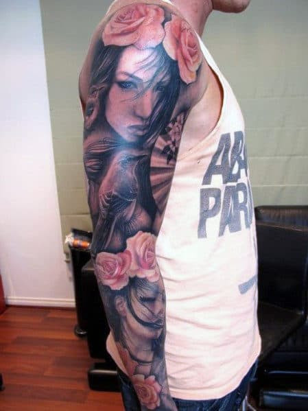 Tatuagem Masculina Rosa