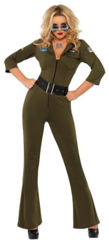 Top Gun Jumpsuit Female Costume