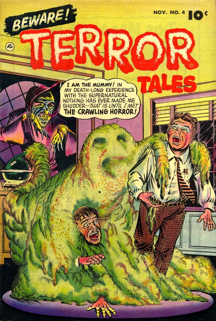 Beware Terror Tales #4 Bernard Bailey Cover (Fawcett, 1952)