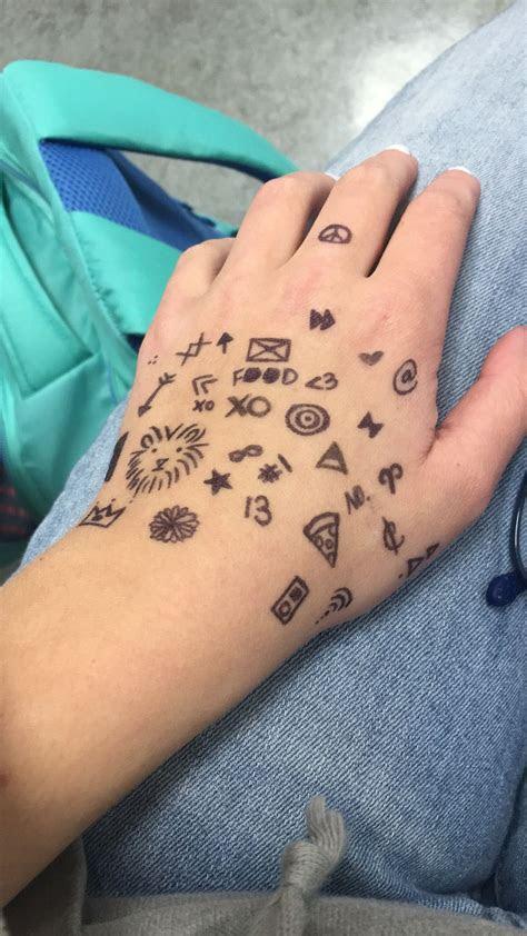 drawing hand sharpie tattoos draw hands