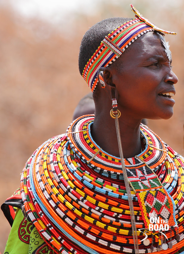 Exquisite bead work on this Samburu woman